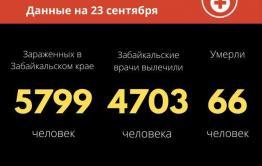 Рекордное число заразившихся коронавирусом в сентябре зафиксировали в Забайкалье