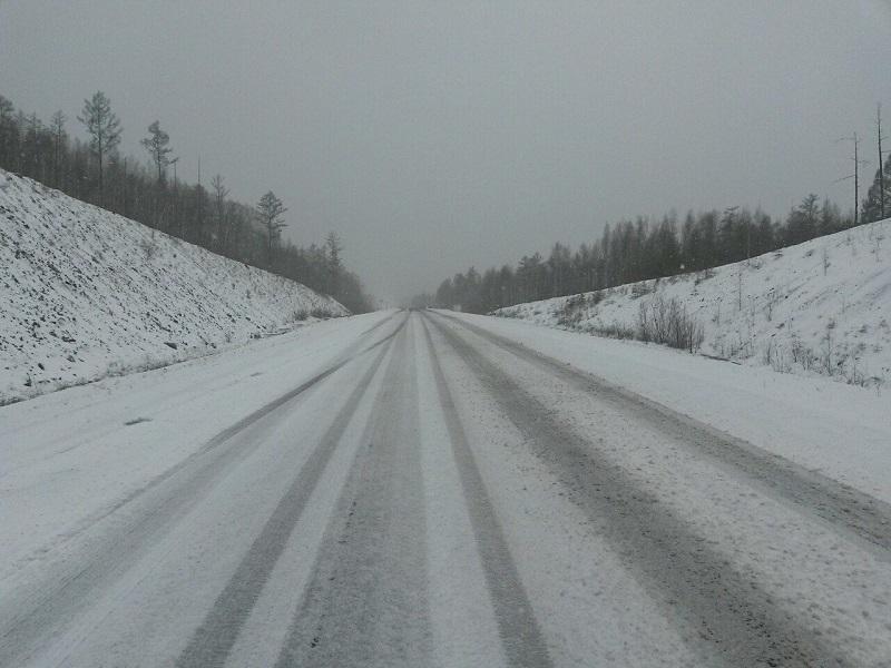 Ухудшение дорожной обстановки из-за снега ожидается в Забайкалье