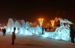 Ледовый городок открылся на Центральной площади Читы (видео)