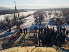 Открытие мемориала памяти погибшим в катастрофе с автобусом в Сретенске. 1 декабря