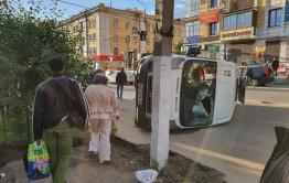Четыре человека остаются в больнице после ДТП с перевернувшейся маршруткой в Чите