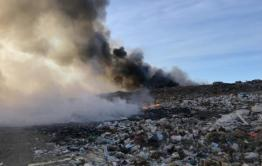 Власти ввели режим ЧС из-за пожара на читинской свалке