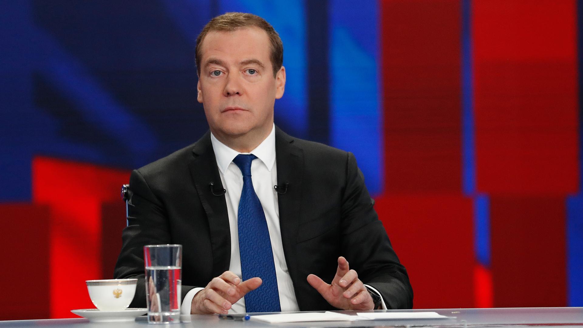 Медведев: «Развитием экономики удовлетворен»