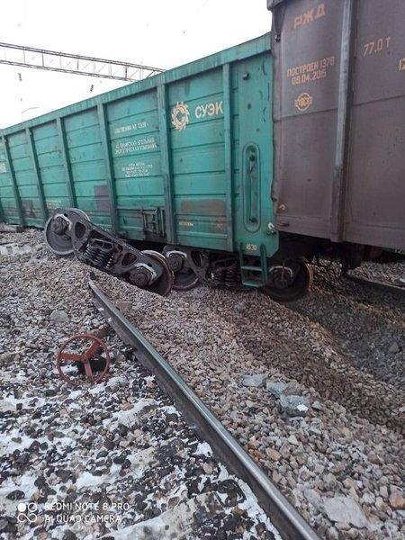 На станции Чернышевск-Забайкальский столкнулись два грузовых поезда