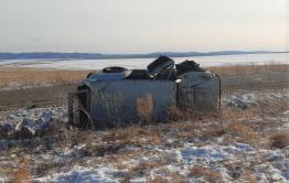 В Забайкалье водитель без прав слетел с дороги и попал в больницу
