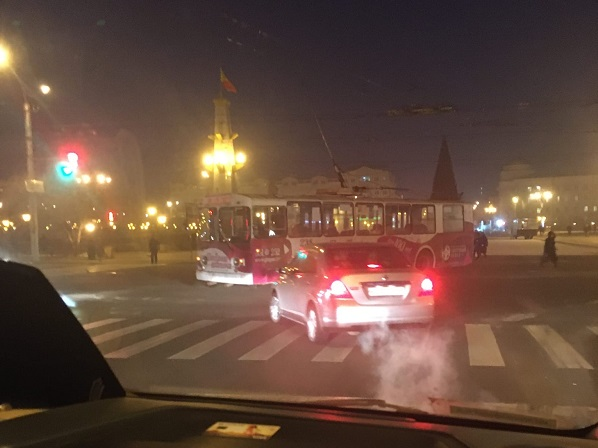 Авария парализовала движение троллейбусов на Бутина в Чите