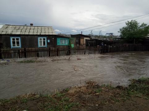 После ливня в Забайкальске был подтоплен двадцать один дом