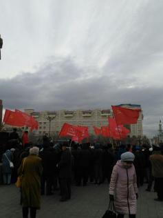 Вихри враждебные веют над нами... 7 ноября, площадь Ленина, Чита
