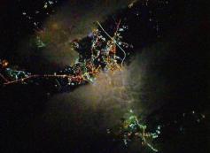 Космонавт Сергей Кудь-Сверчков, находящийся на Международной космической станции, в день рождения Забайкальского края, 1 марта, сфотографировал Читу из космоса.