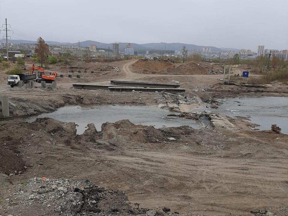 Каштакский мост в Чите практически полностью демонтировали