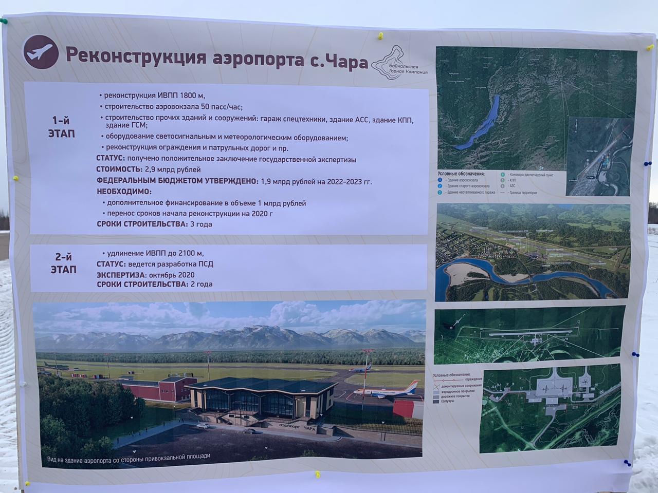 Проект реконструкции аэропорта в Чаре прошел госэкспертизу