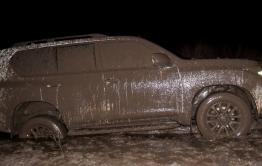 В Краснокаменском районе угонщик оставил «Лэнд-Крузер-Прадо», застрявший в грязи